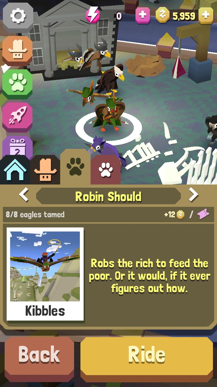 Get robin should by traveling 0-1000 meters in the mountains and going far out behind eagle perch...