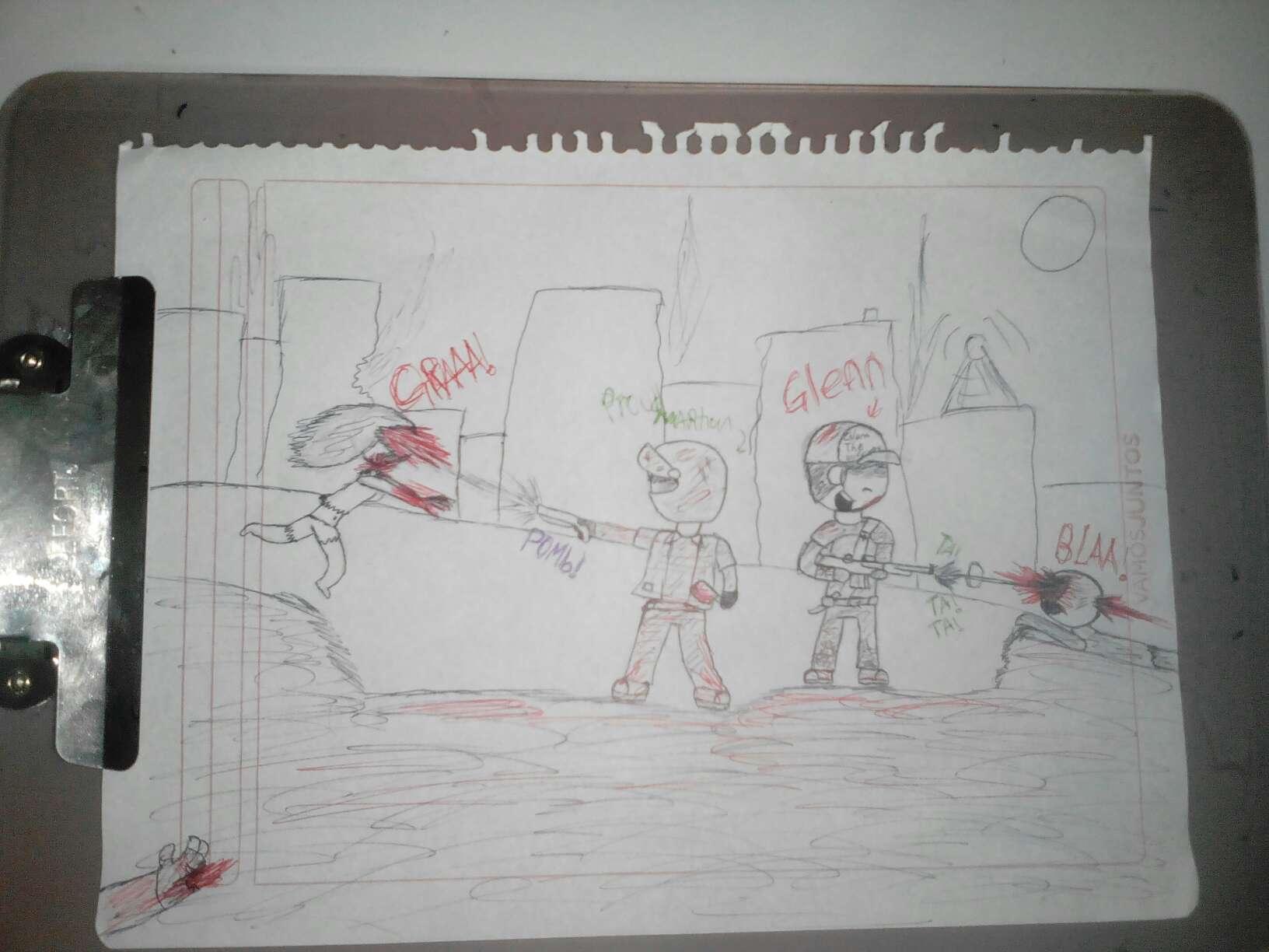 otro dibujo pero con un amigaso...