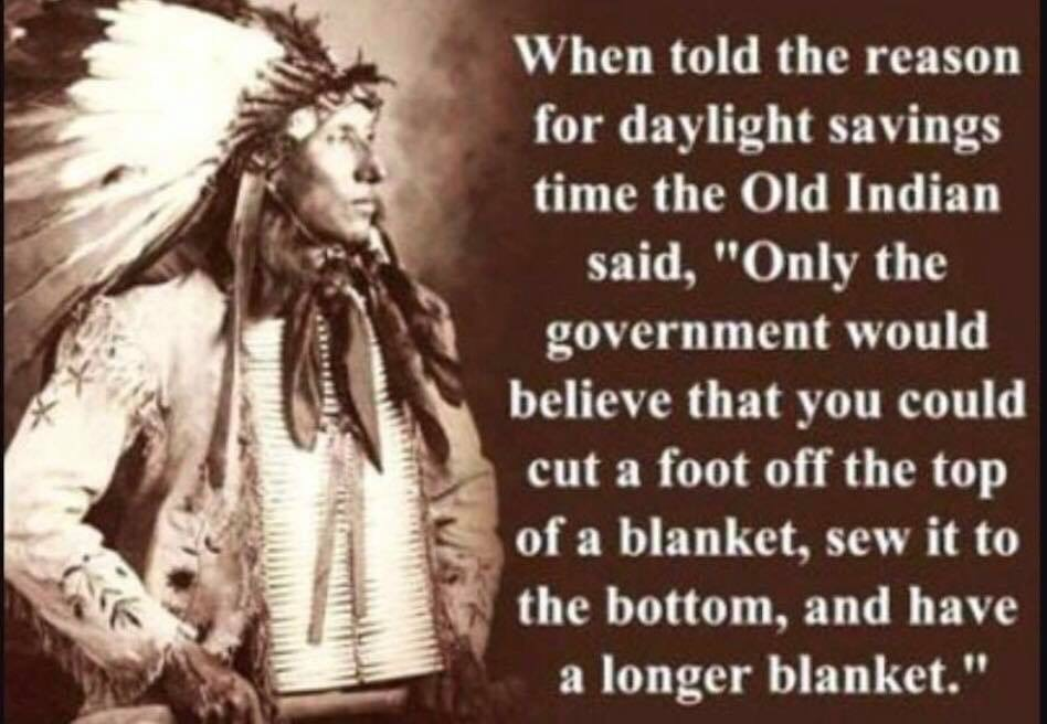 Daylight savings time is for the birds!!!