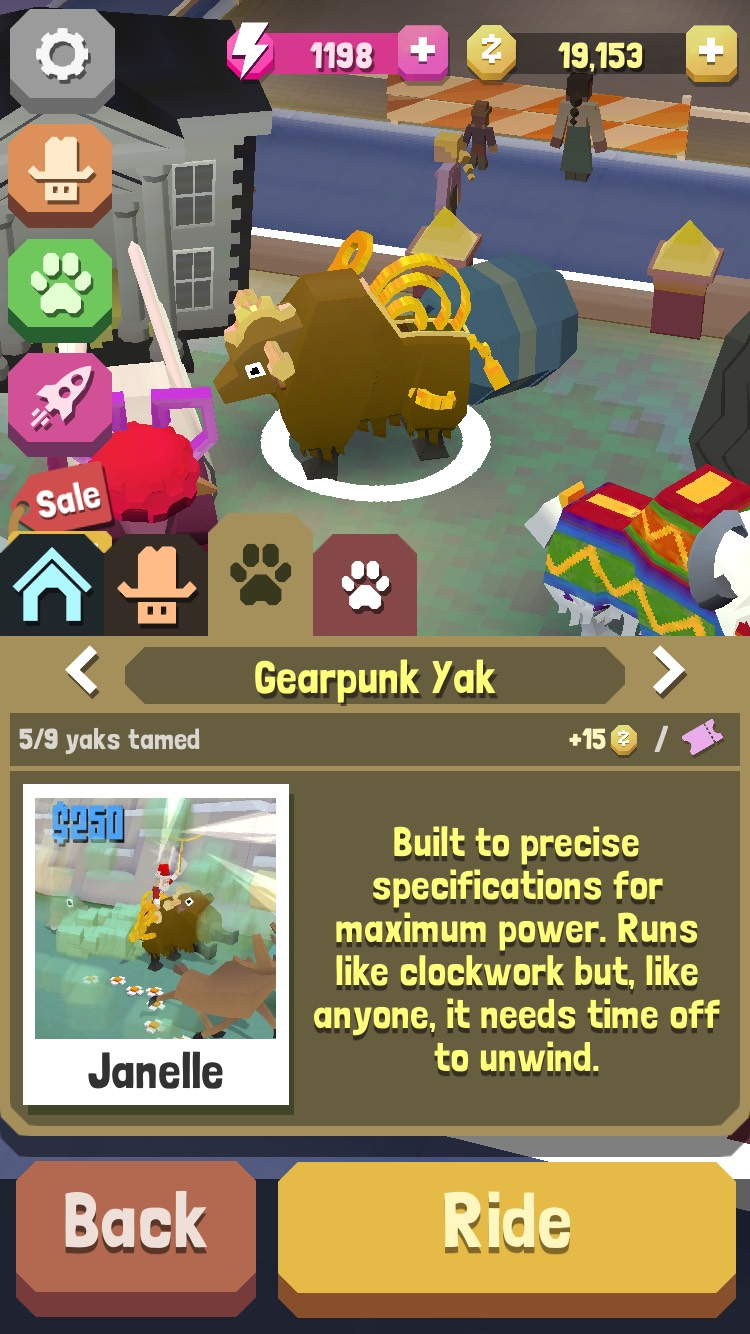 How to find the gearpunk yak