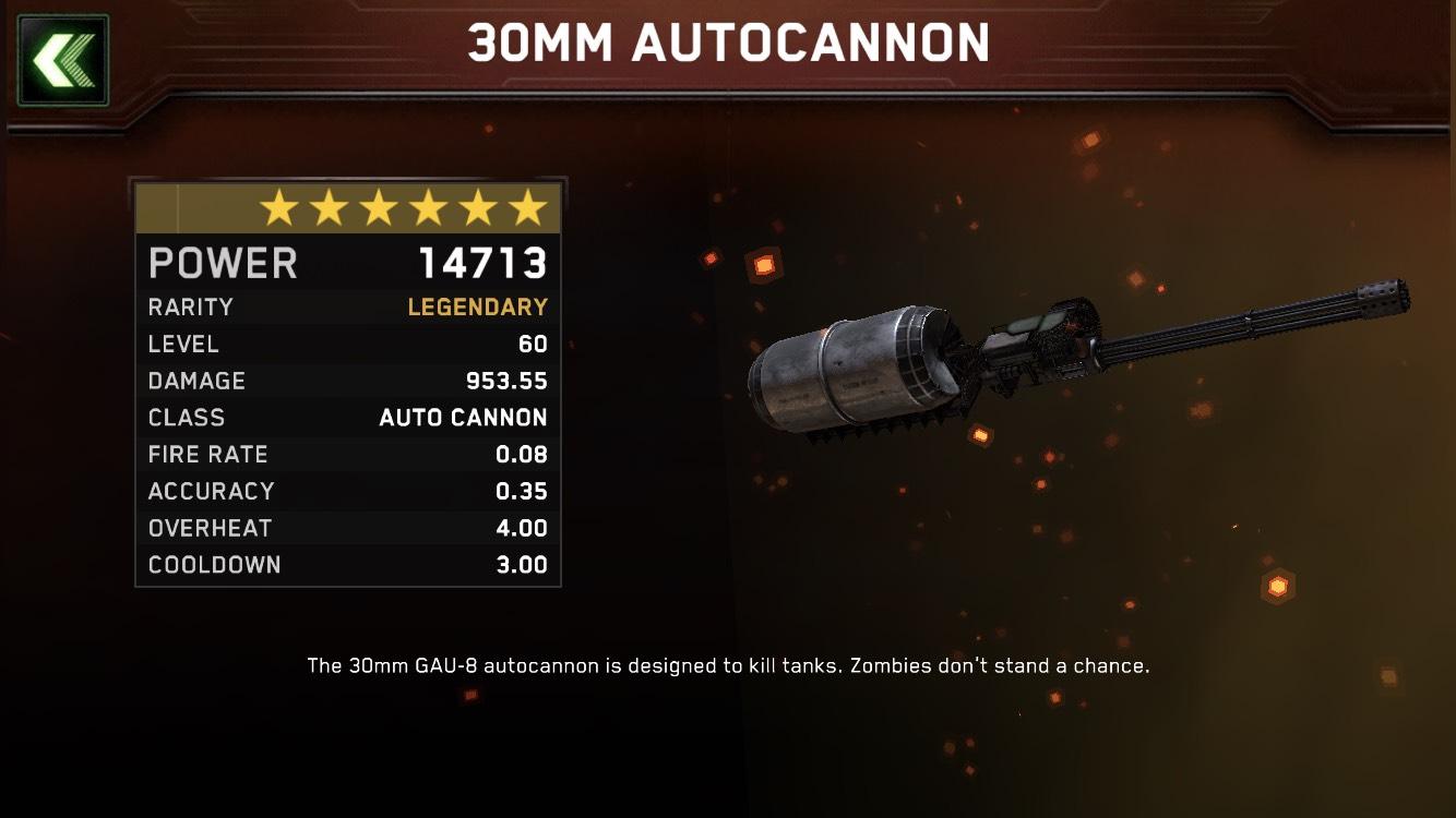 Lvl 60 legi ac30mm