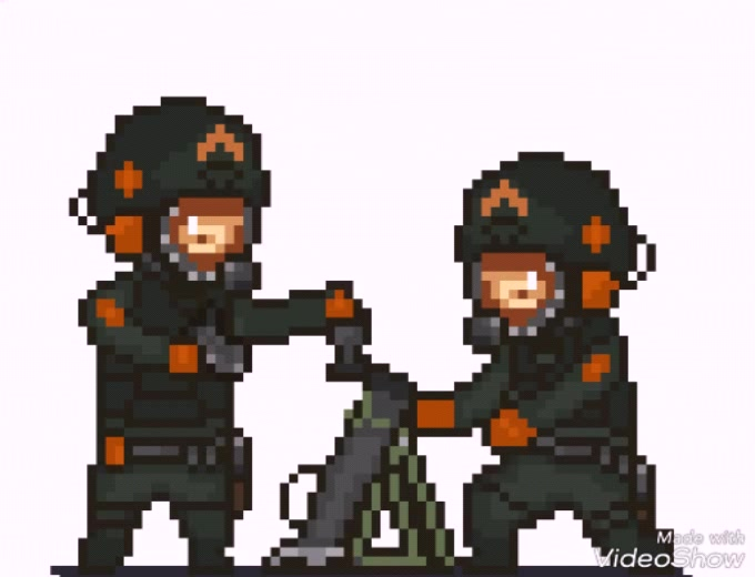 Mortar Team animated