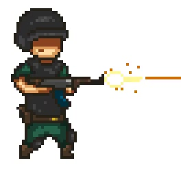 Some random sprites( soldier breathing, shooting and walking)