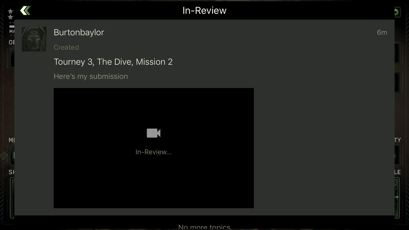 In Review:Tourney 3, Mission 2, The Dive