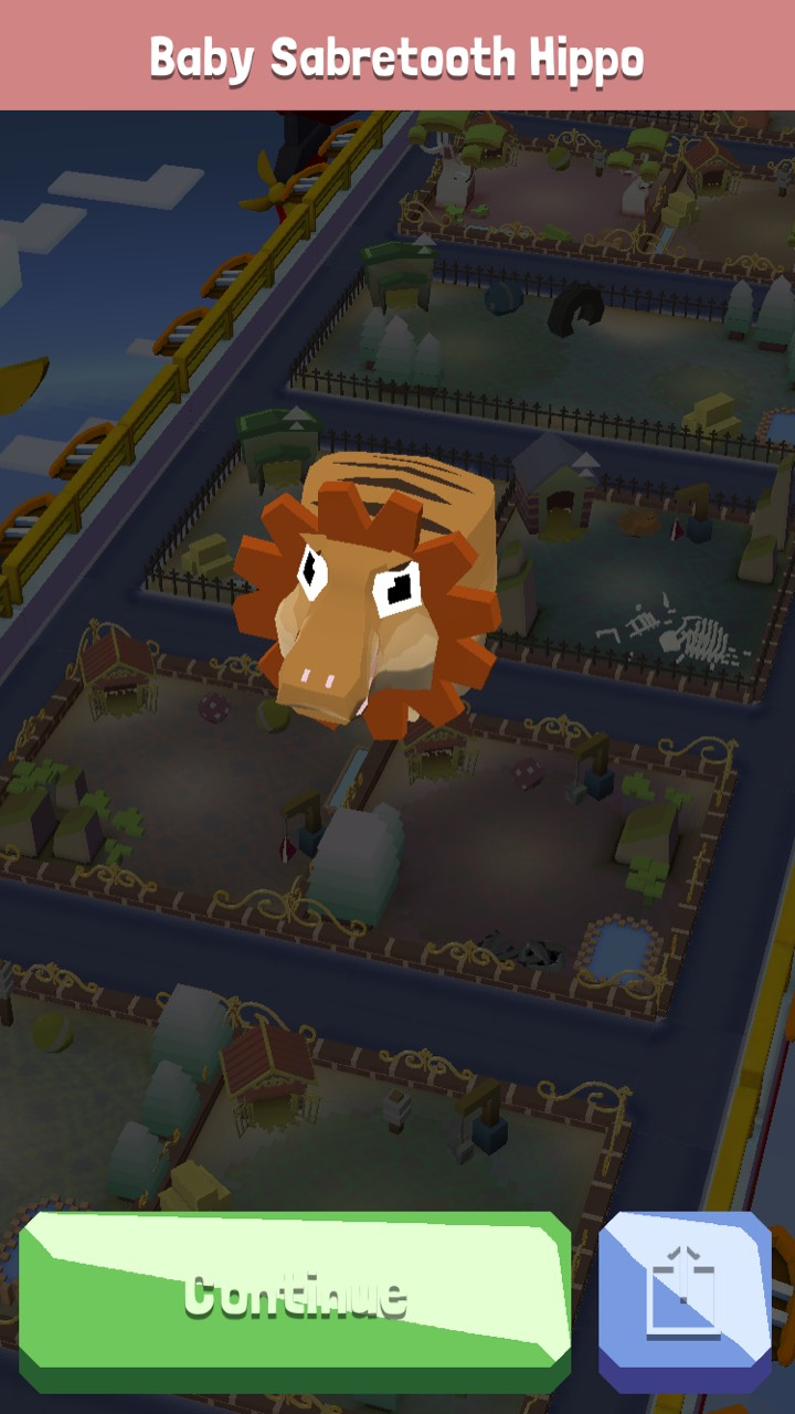 My new endanger sidekick!  Baby Sabretooth hippo!  Sabretooth hippo was my first endanger animal ...