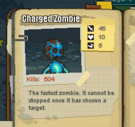 How much damage does the charged zombies do?