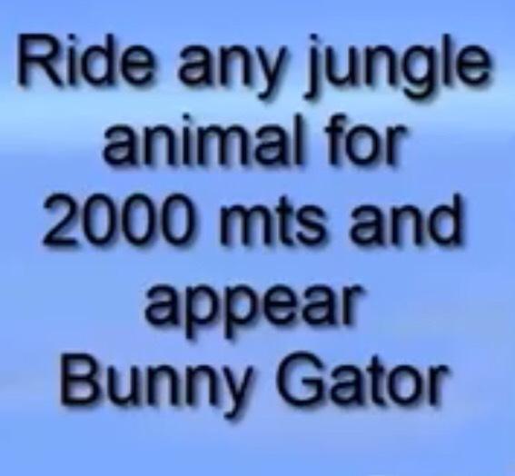 Trick No.3 a bunny gater