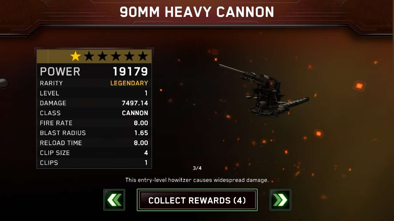 Gold drop from the arms race event.